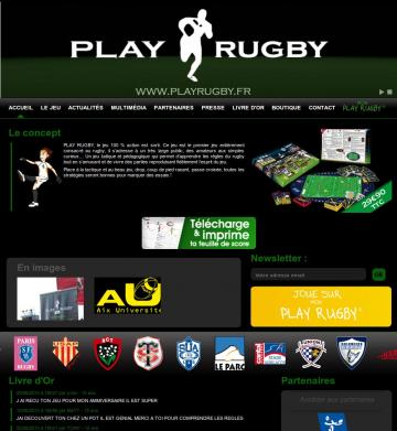 Site web Play Rugby